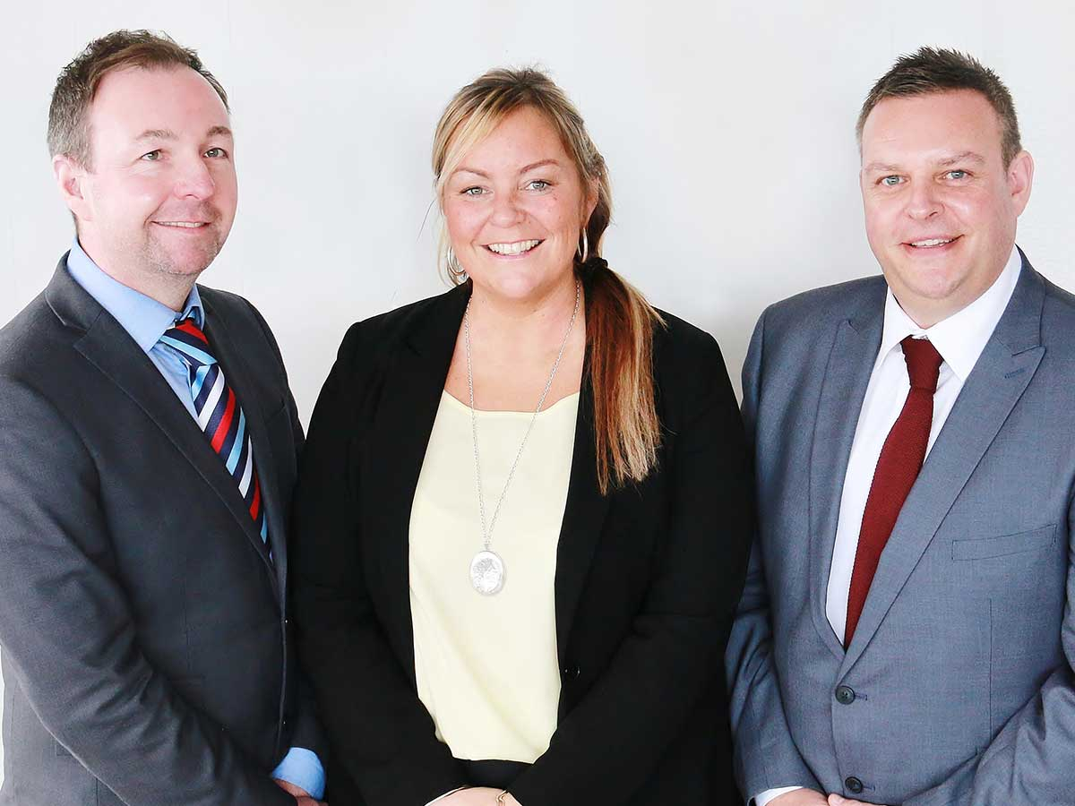 Scott, Jake and Angela - the Hindley and Lamb Team